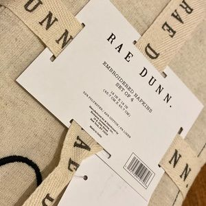 Rae Dunn Other - 🍽❤️Rae Dunn LOVE Embroidered Napkin Set (4)